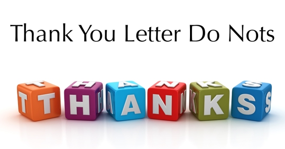 Dos and Don'ts On Your Thank You Letter