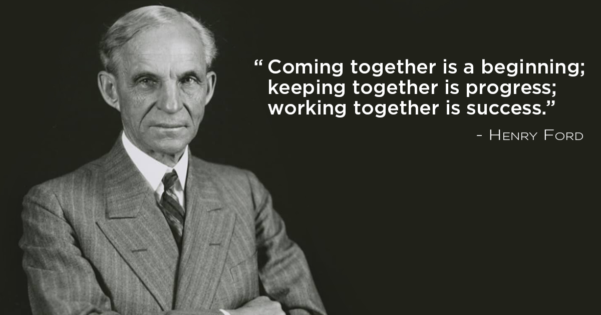 Work Together For Success