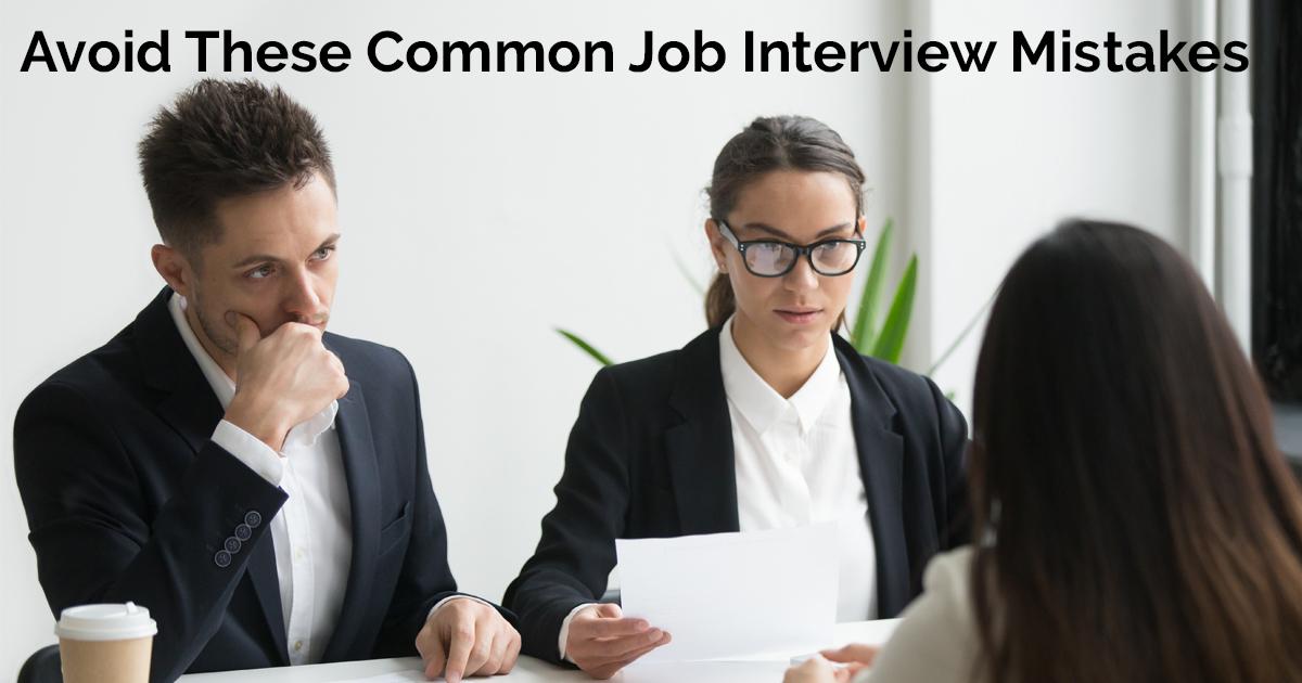 Avoid These Common Job Interview MistakesAvoid These Common Job Interview Mistakes facebook